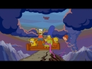 The simpsons couch gag adventure time