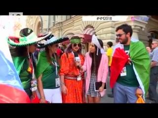 #ВТЕМЕ Алина Хомич и репортер Ю научили иностранных фанатов петь песни Бузовой