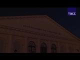 Световой фильм о городах-героях на фасаде Манежа