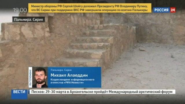 Новости на «Россия 24» • Сирийские войска полностью контролируют Пальмиру