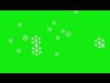 ФУТАЖ снежинки