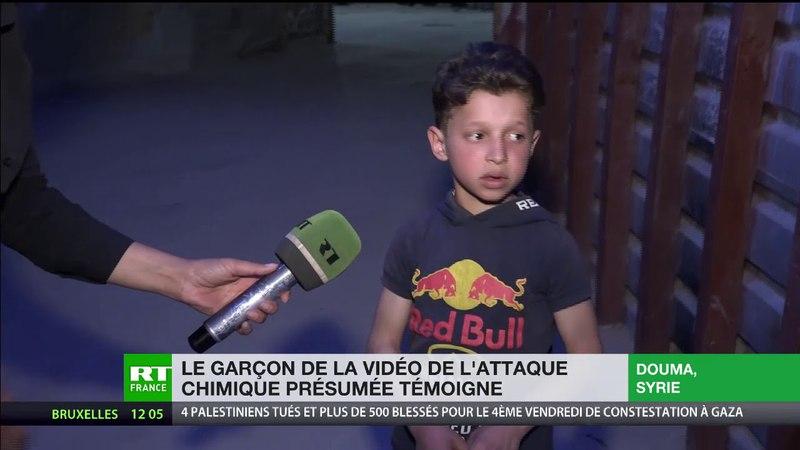 Hassan Diab, 11 ans, donne sa version de lattaque chimique présumée à Douma