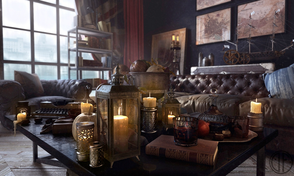 steampunk interior decorating