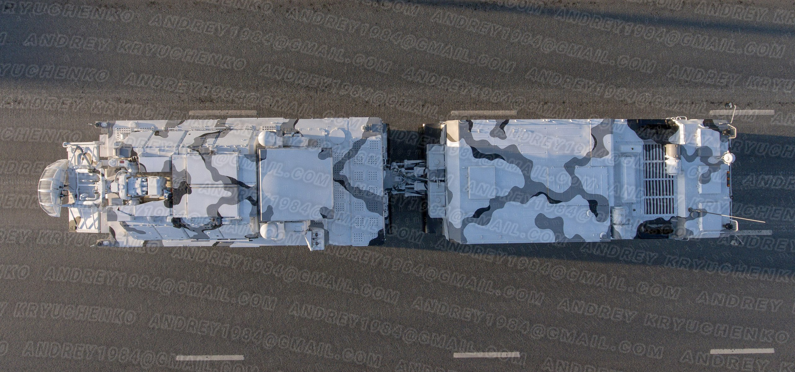 Arctic TELAR Tor-М2DT, top view.