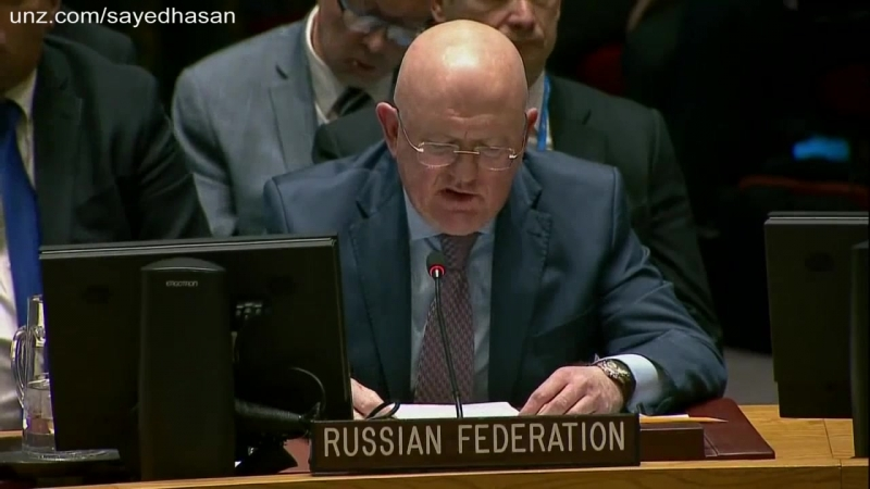 Russian Envoy to the UN US, UK and France push for World War