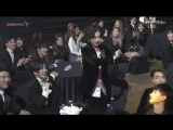 super junior | heechul standning up in the middle of asia artist awards