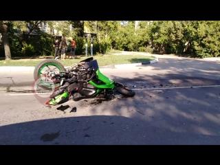 ДТП с мотоциклом на Силаева