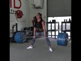 Стефани Кохен, тяга 228,5 кг на 3 раза