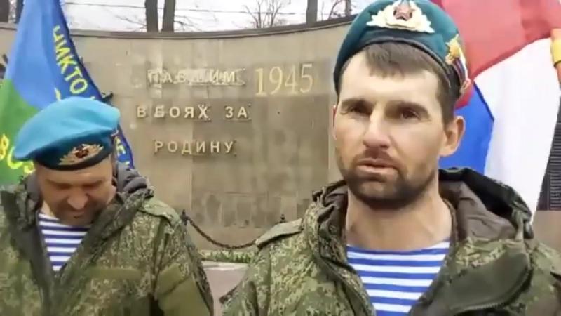 Марш бросок ветеранов ВДВ под командованием Айдына Мамедова посвященный 73-летию Великой Победы