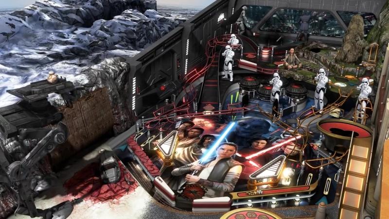 Набор из двух столов по саги о Звездных войнах для игры Pinball FX3!