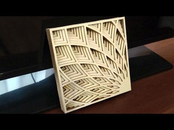 Scroll saw fretwork ornament Art Deco Shadow Box