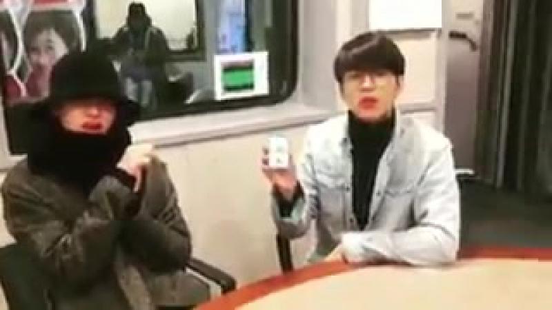 [VID] 180115 SBS Lee Gukju Youngstreet Radio Instagram update - INFINITE Sungjong Woohyun (2)