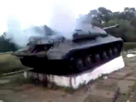Ополченцы в Донецкой обл. Завели ИС-3