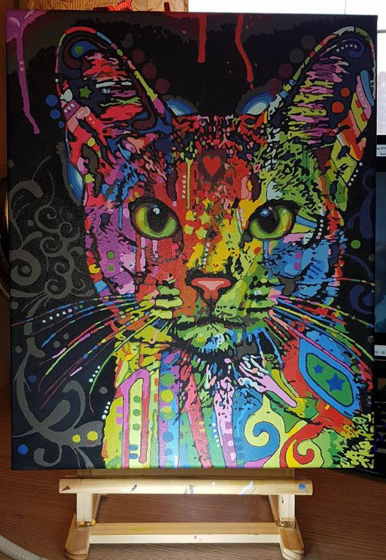 Холст с красками 4050 см