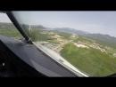 Посадка в аэропорту города Тиват Черногория