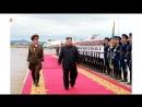 우리 당과 국가 군대의 최고령도자 김정은동지께서 미합중국 대통령과의 력사적인 첫 상봉과 회담을 위하여 평양을 출발하시였다