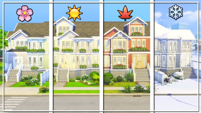 THE SIMS 4 | BUILD | SEASONAL TOWNHOUSES (Seasons Expansion Pack)