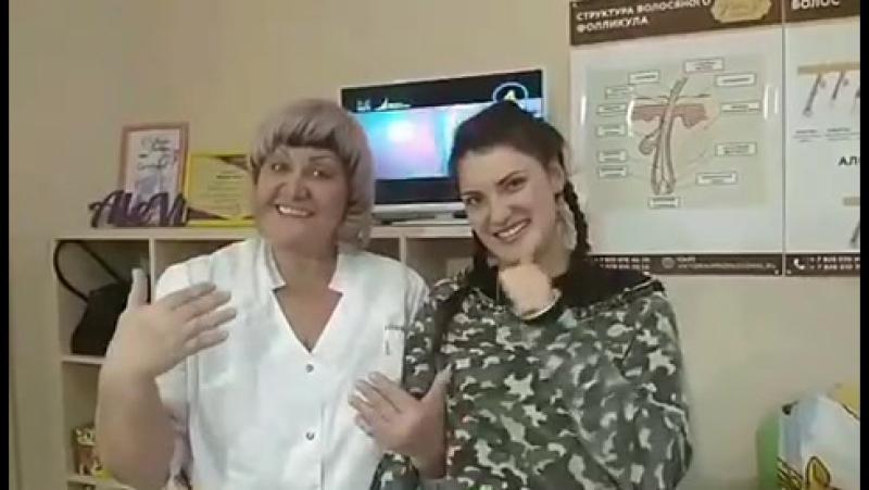 Мастер Валентина и наша постоянная гостья Юлия