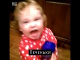 Маленькая девочка и печеньки