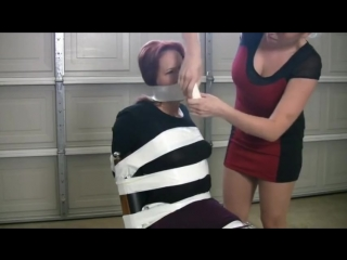 Wrap gagged and chair tied