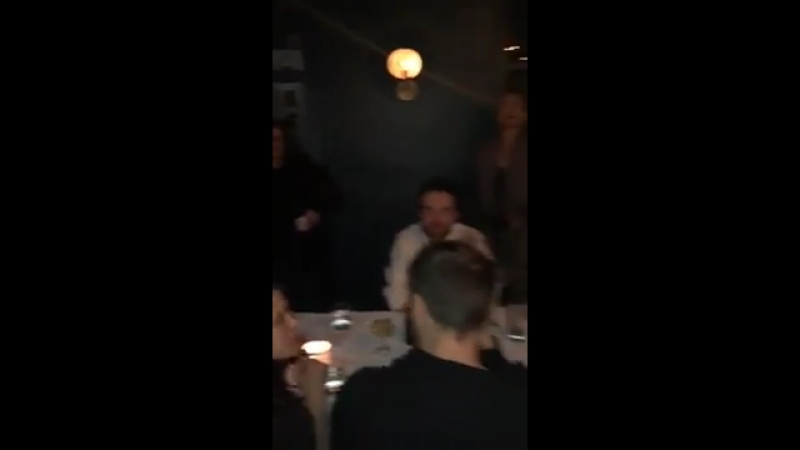 Robert Pattinson At Ciarra's Birthday At Redbird, LA, 23.03.18 (ciarrap ig story)