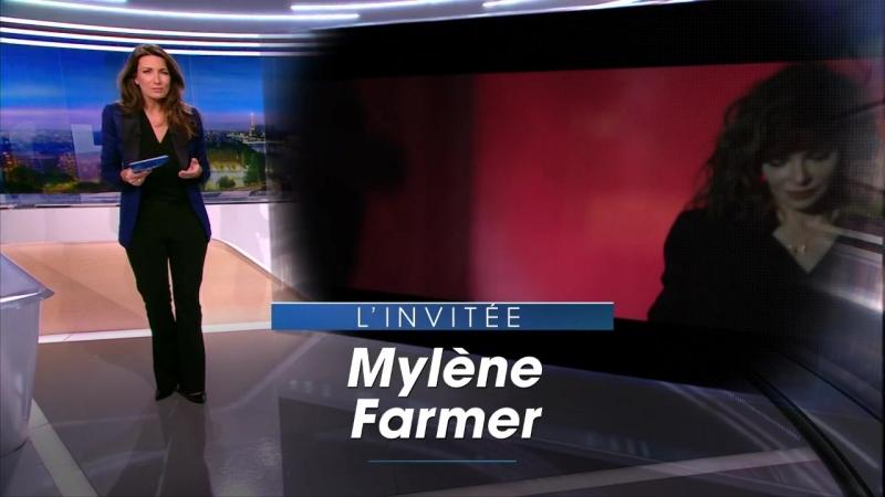 Mylene Farmer - Annonce interview (JT 20 heures, TF1, 11 mars 2018)