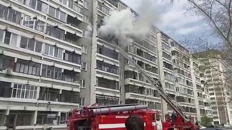В многоэтажке на Уралмаше сгорела квартира на 6-м этаже