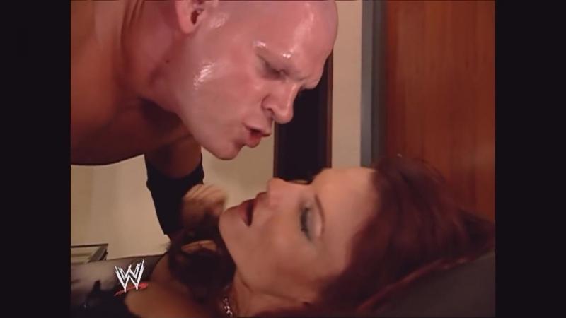 Lita and Kane Backstage Raw 2005