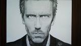 Портрет Грегори Хауса (Хью Лори) Drawing Gregory House (Hugh Laurie) from House M.D.