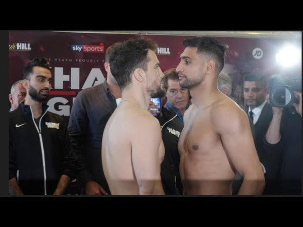 KHAN RETURNS! - AMIR KHAN v PHIL LO GRECO - OFFICIAL WEIGH IN HEAD TO HEAD / KHAN v LO GRECO
