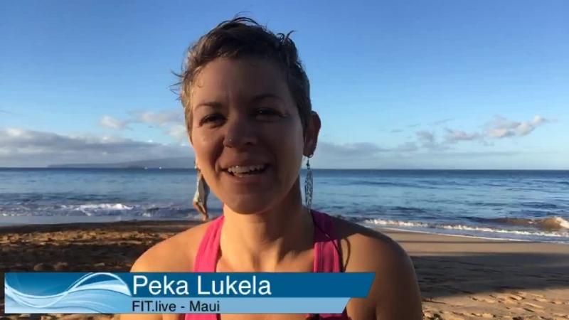 Vinyasa Yoga on the Beach | Peka LIVE on FIT.live from Maui, Hawaii