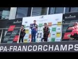Подиум Роберта Шварцмана в первой гонке на Spa-Francorchamps