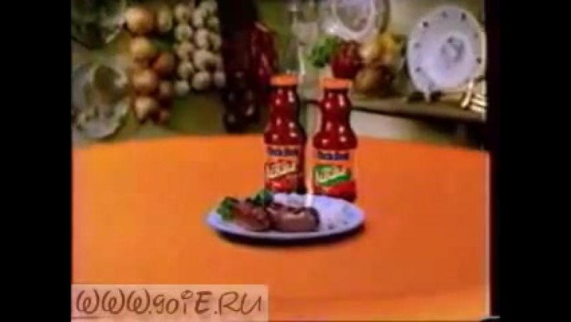 Uncle Bens ketchup commercial 1996