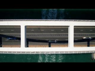 Открытие Крымского моста 15 мая 2018 года — колонна строительной техники