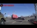 Жёсткая авария на перекрестке/crash at an intersection