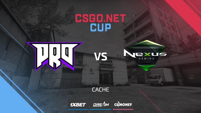 Pro100 vs Nexus (de_cache) [CSGO.NET Cup 1]
