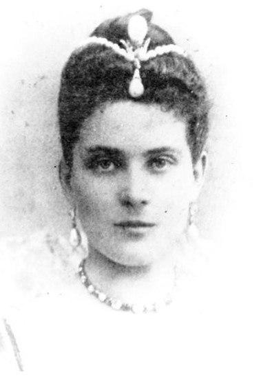 княжна Юсупова с жемчужиной Пелегриной