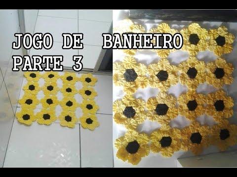JOGO DE BANHEIRO PARTE 3|COM FLOR FUXICO artesanatos