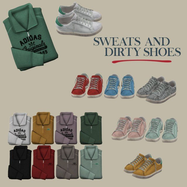 Dirty Shoes Decor + Folded Sweats by Leo-Sims
