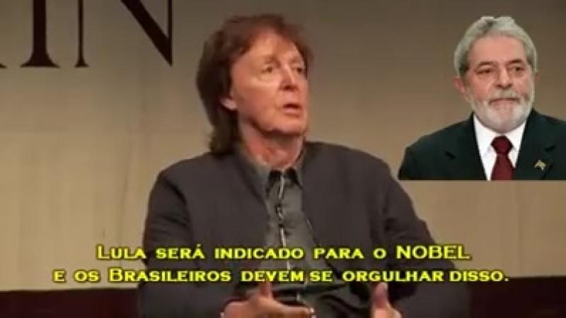 Paul Mccartney afirma que Lula é 'ícone mundial'