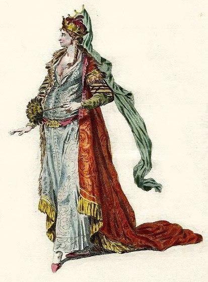 царица Нурсалтан по историческим описаниям, парадный портрет