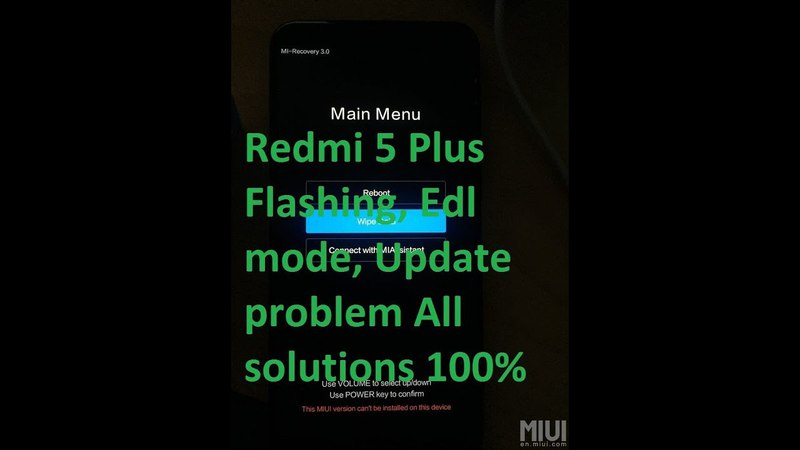 Redmi 5 Plus Flashing, Edl mode, Update problem All solutions 100 | xiaomi redmi 5 plus|mi 5 plus