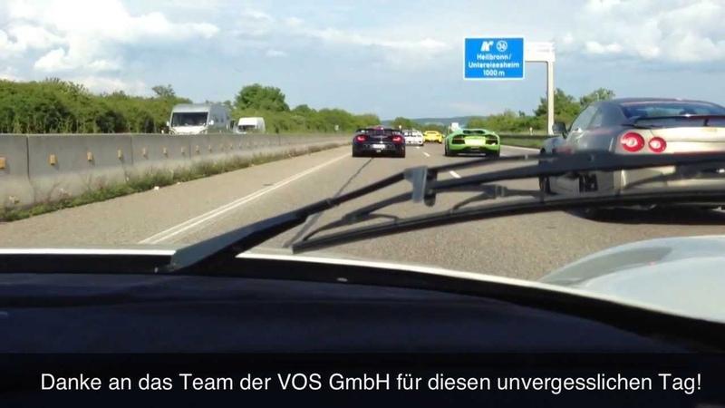300 kmh !! - Maserati MC12 on German Autobahn - Ride,Accelerations,Sound