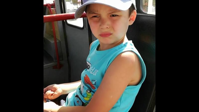 Макс в первый раз едет на трамвае