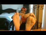 Arabic Teen Boy Shows Off His Feet