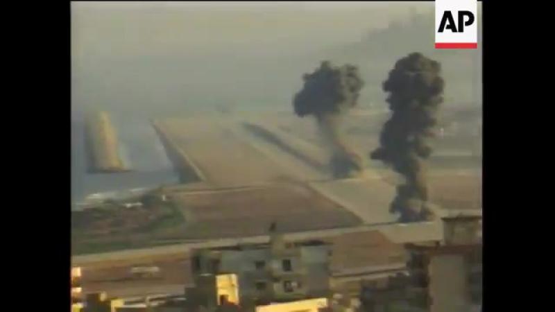 Вторая ливанская война 2006 года.ВВС Израиля наносят авиаудары по позициям Хезболлы на территории южного Ливана
