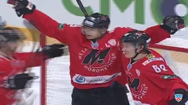 Моменты из матчей КХЛ сезона 14/15 • Гол. 2:2. Алексей Косоуров (Металлург) оказался самым расторопным на пятаке 28.12