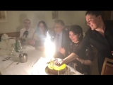 Пласидо Доминго на дне рождения внучки Паломы.