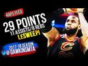 LeBron James SWEEPS LeBronto in 2018 ECSF Game 4 - 29 Pts, 11 Asts! Raps Feed, FreeDawkins