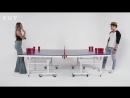 Blind Dates Play Fear Pong (Estefany vs. Sam) - Fear Pong - Cut